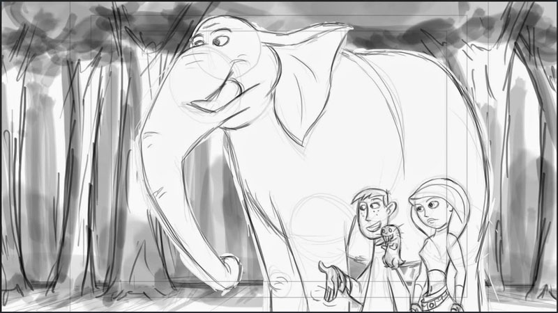 Kim And Her Elephant Storyboards 3