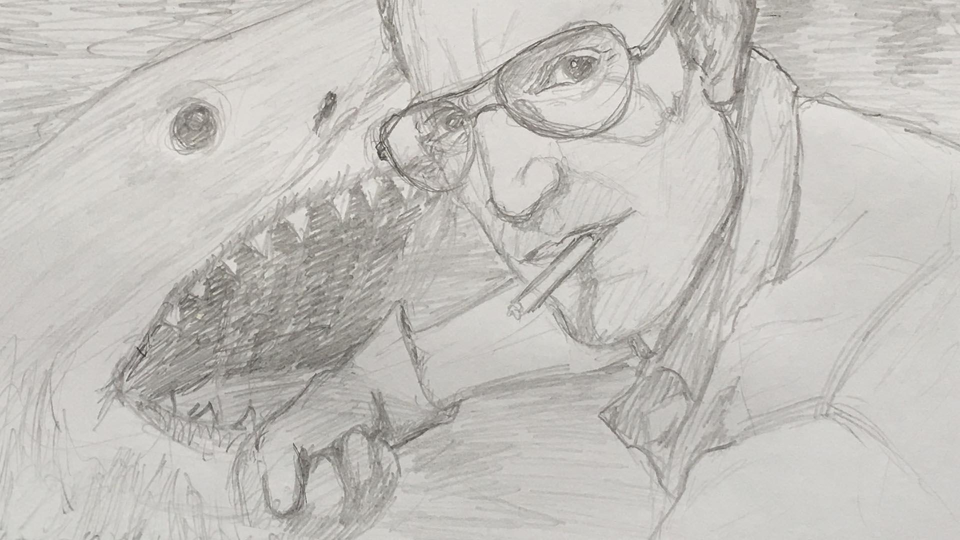 Roy Scheider a Pencil Drawing 0