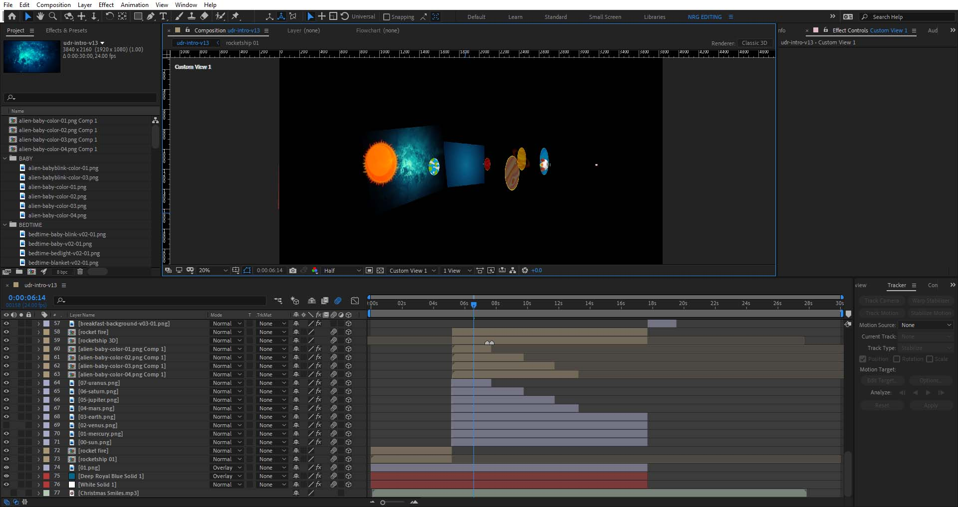 3D After Effects Intro, workflow and best practices 7